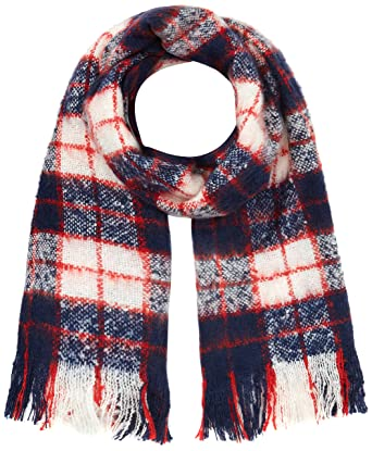 Superdry G93002YP, Echarpe Femme, Bleu (Navy Red White), (Taille Fabricant 884d6740916