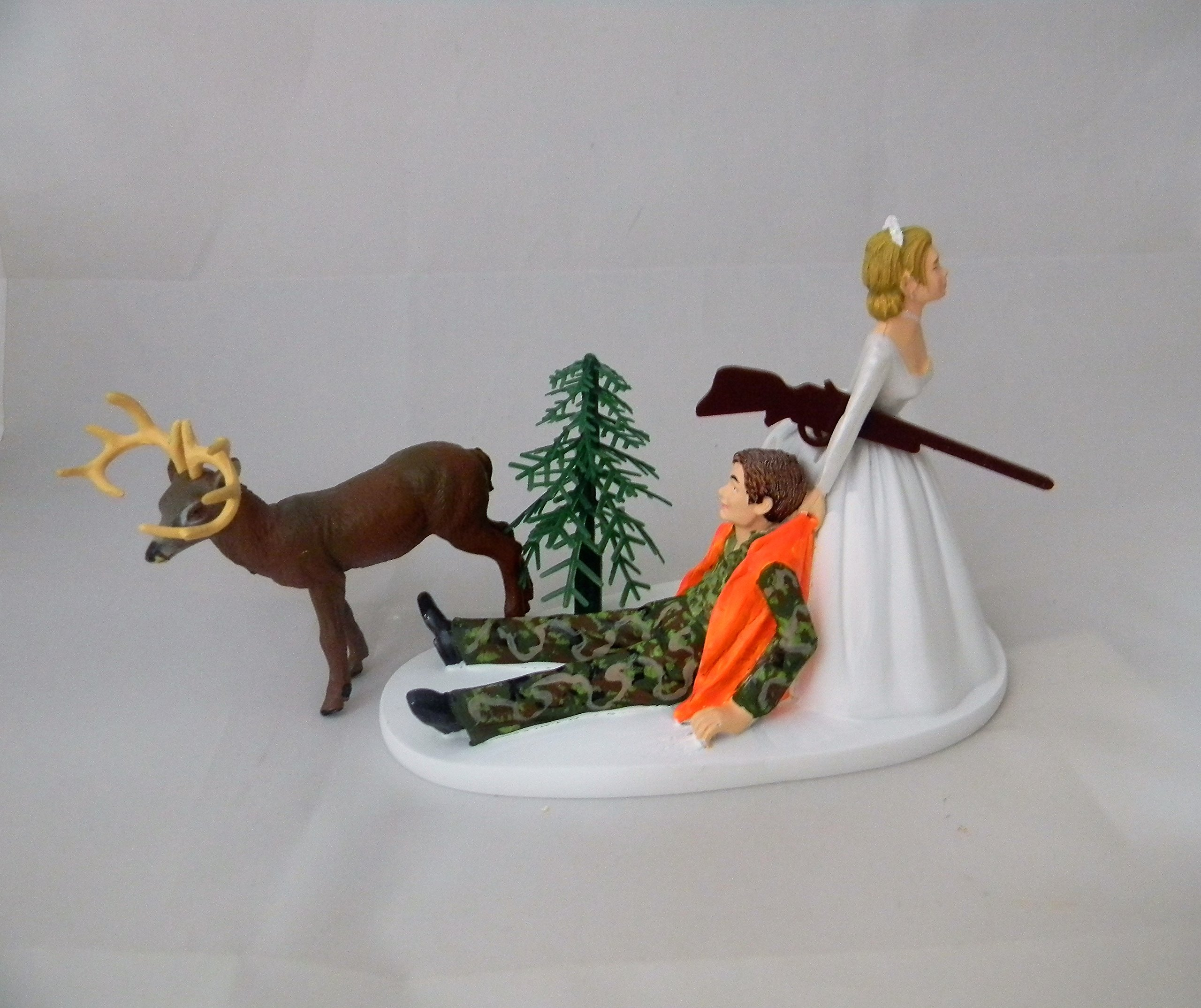 Wedding Reception Party Camo Deer Hunter Hunting Cake Topper