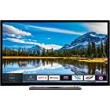 Toshiba 32L3863DBA 32-Inch Smart Full-HD LED TV with Freeview Play - Black/Silver (2018 Model), enabled with Amazon Dash Replenishment