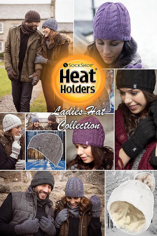 Damen Warm Winter thermisce gestrickt hut Heat Holders mutze in 7 farben