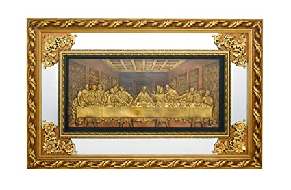 Amazoncom The Last Supper Christian Wall Hanging Ornate Gold