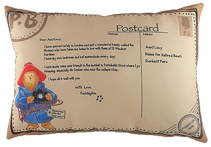 Amazon.com: Evans Lichfield postal Paddington Bear cojín con ...