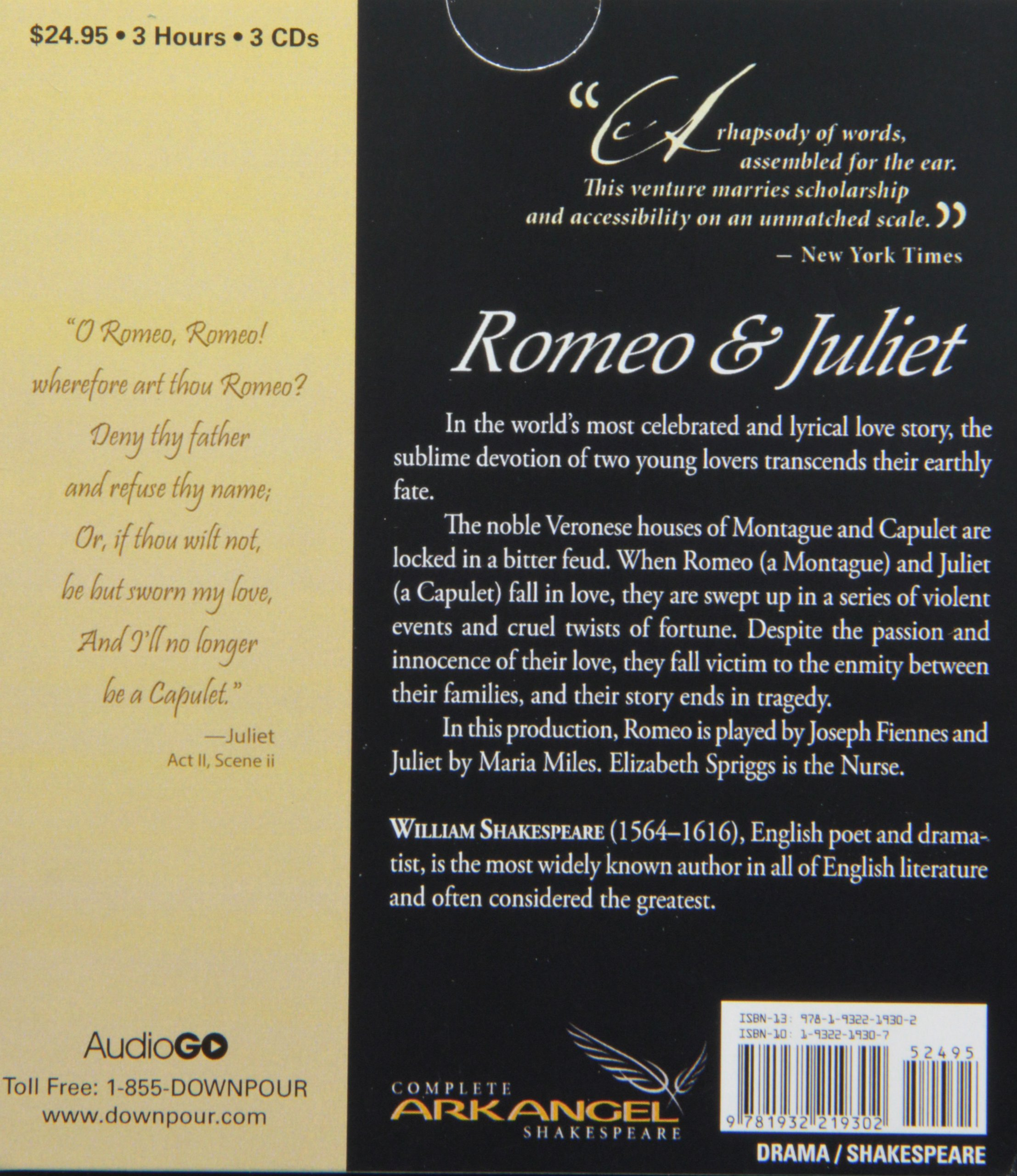 Romeo and Juliet (Arkangel Shakespeare Collection): Amazon.co.uk: William  Shakespeare: Books