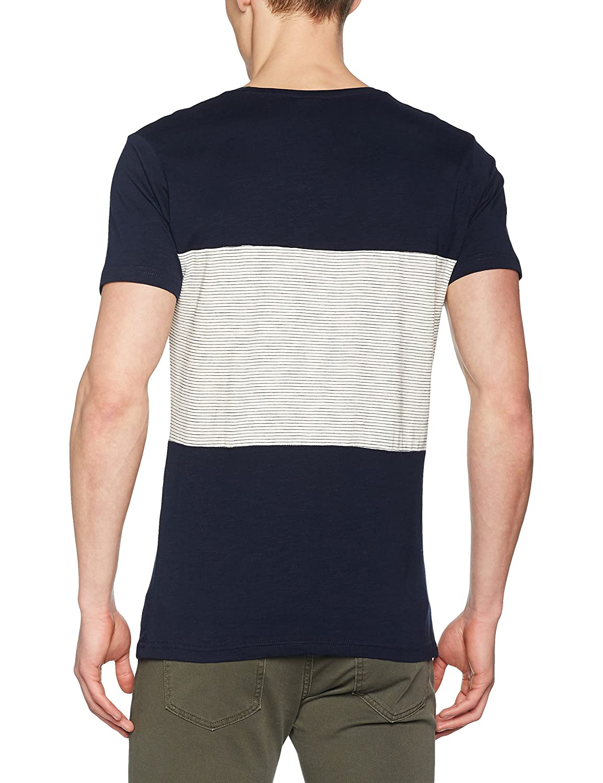 Springfield Cortes Stripe Camiseta de Manga Larga, Azul (Marine ...