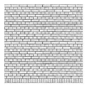 Papier Peint Intissé Premium   Papier Peint Effet Brique   Blanc Mur De  Briques En Toile