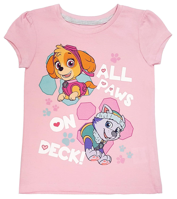 Nickelodeon JR Paw Patrol - Toddler Girl's Paws on Deck Short Sleeve T-Shirt, Pink NTD Apparel