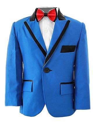 Niños Royal traje azul, Slim Fit, niños traje de boda, graduación, fiesta y bodas de 1 año – 14 años