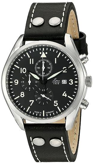 Laco/1925 - Reloj informal de cuarzo y acero inoxidable, y piel de color