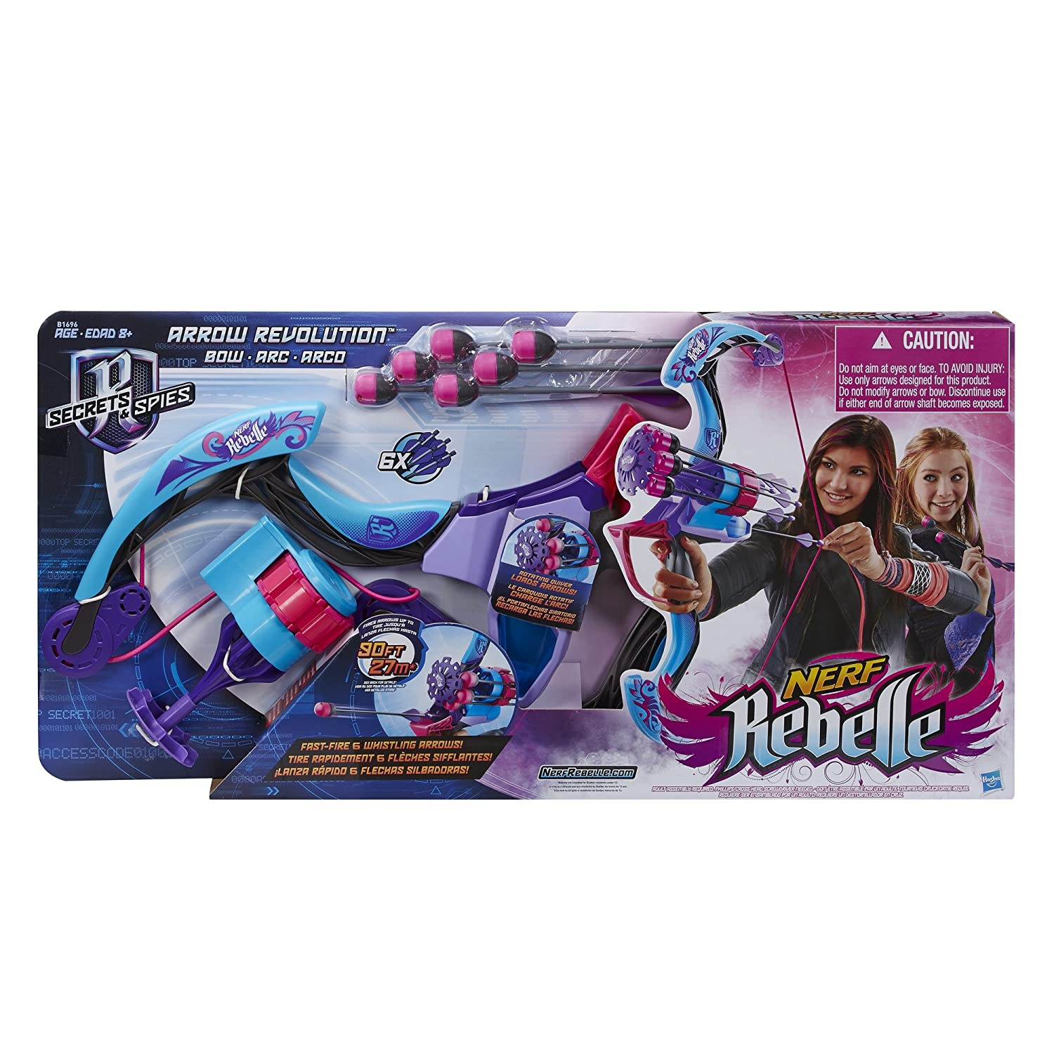 Amazon Nerf Rebelle Secrets and Spies Arrow Revolution Bow Toys & Games