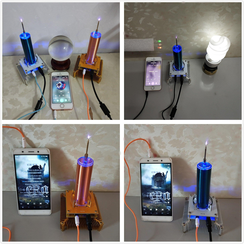 Joytech Music Tesla Coil Acrylic Base Shell Arc Plasma Loudspeaker Wireless Transmission Experiment Desktop Toy Model (YS01) by Joytech (Image #3)
