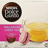 NESCAFÉ DOLCE GUSTO MACARON GREEN TEA Tè verde al gusto di macaron al lampone 3 confezioni da 16 capsule (48 capsule)