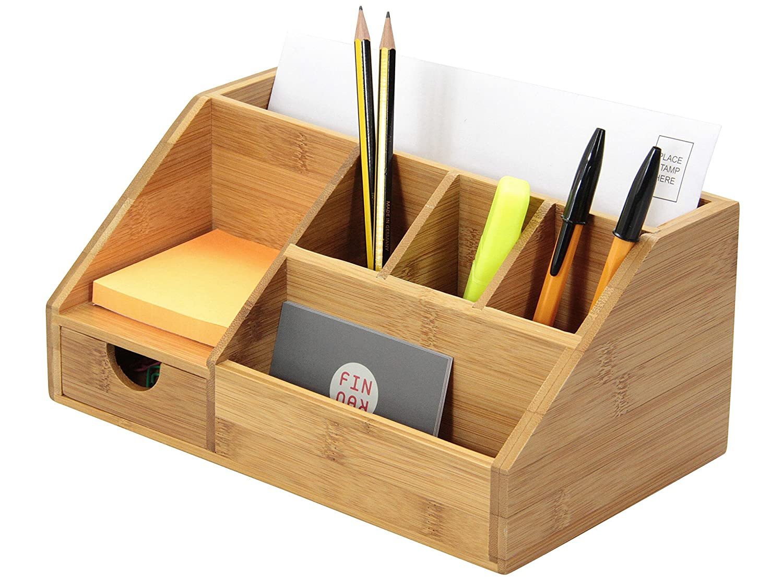 Schreibwaren-Organizer aus Bambus – Halter für Briefe, Notizen und Stifte Woodquail 1652-it