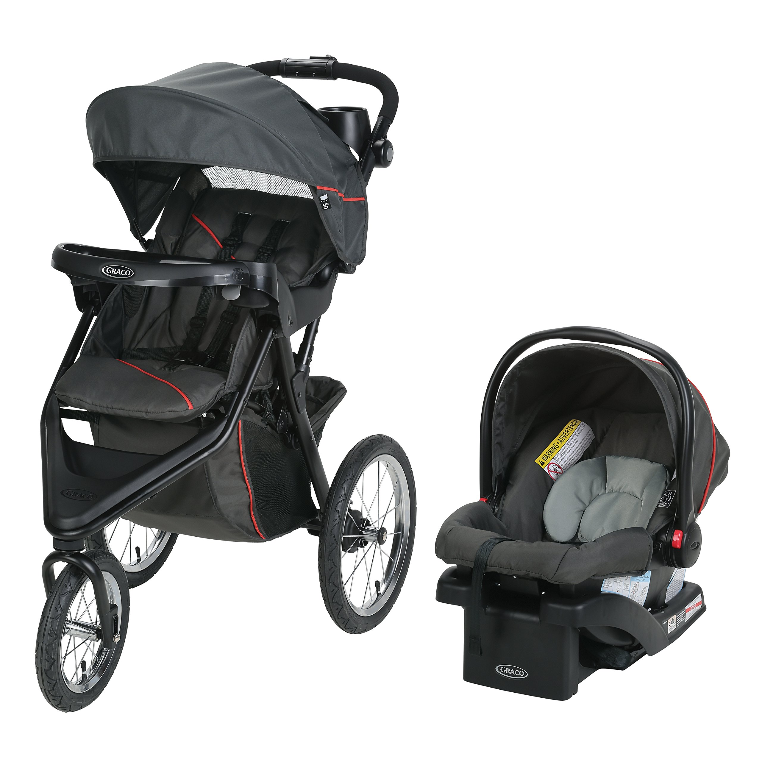 Graco Trax Jogger Travel System | Includes Trax Jogging Stroller and SnugRide 30 Infant Car Seat, Evanston by Graco