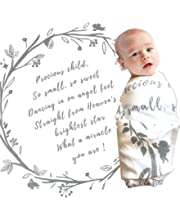 Baptism Gifts for Baby God Child Gift White Child of God Swaddle Unisex Gender Neutral Baby Gift Bamboo and Cotton 47x47 Muslin Swaddle Blanket Non-Toxic Psalm 139