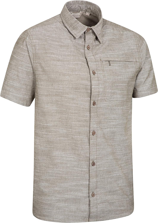 Mountain Warehouse Coconut Mens Shirt 100/% Cotton Summer Shirt