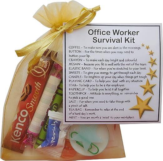 Oficina Trabajador Kit de supervivencia para regalo (nuevo trabajo, secreto de Papá Noel oficina regalo para colega): Amazon.es: Hogar