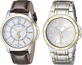 U.S. Polo Assn. Classic USC2254 Set de 2 relojes de 2 tonos