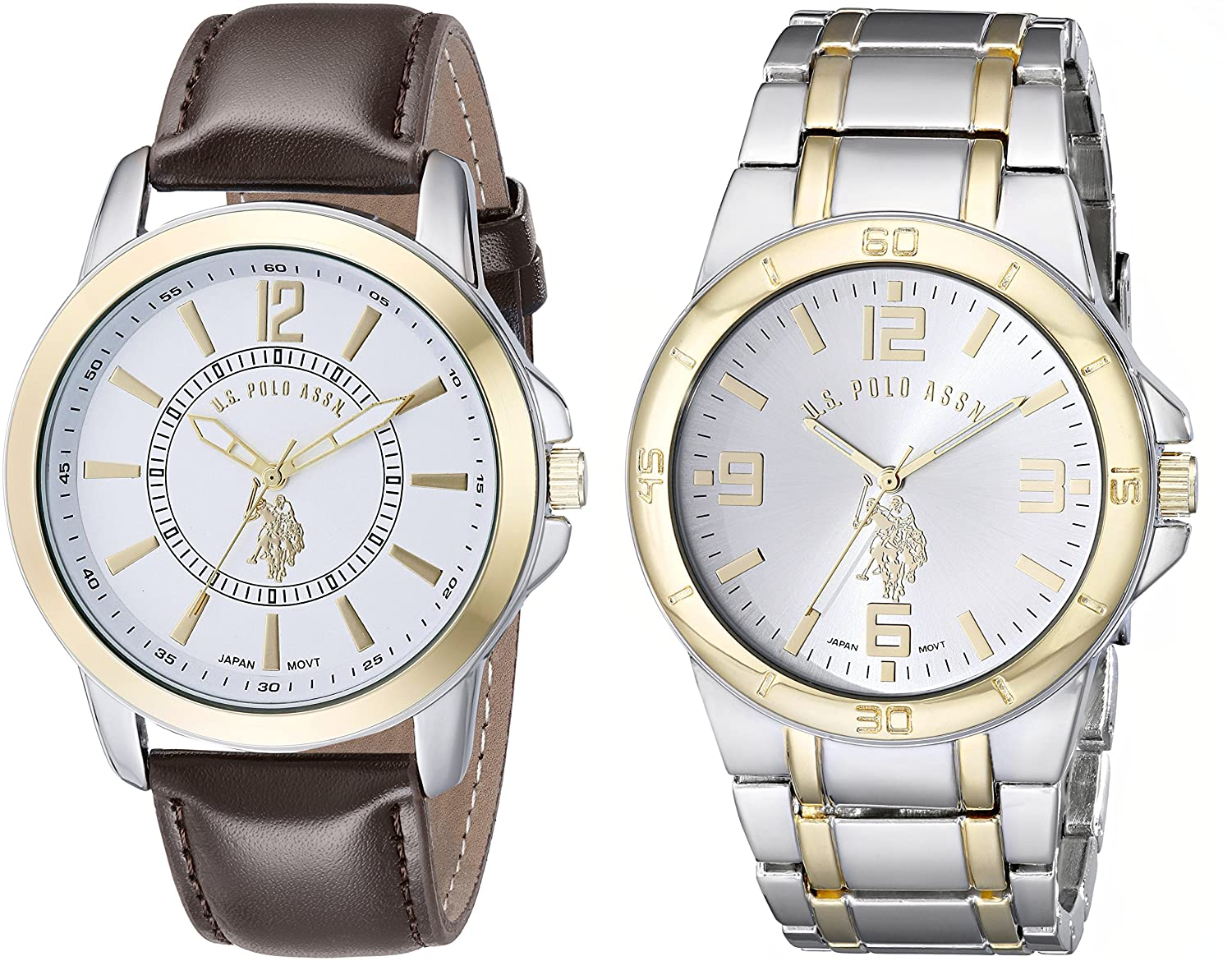 amazon com u s polo assn classic men s usc2254 set of two two amazon com u s polo assn classic men s usc2254 set of two two tone watches watches