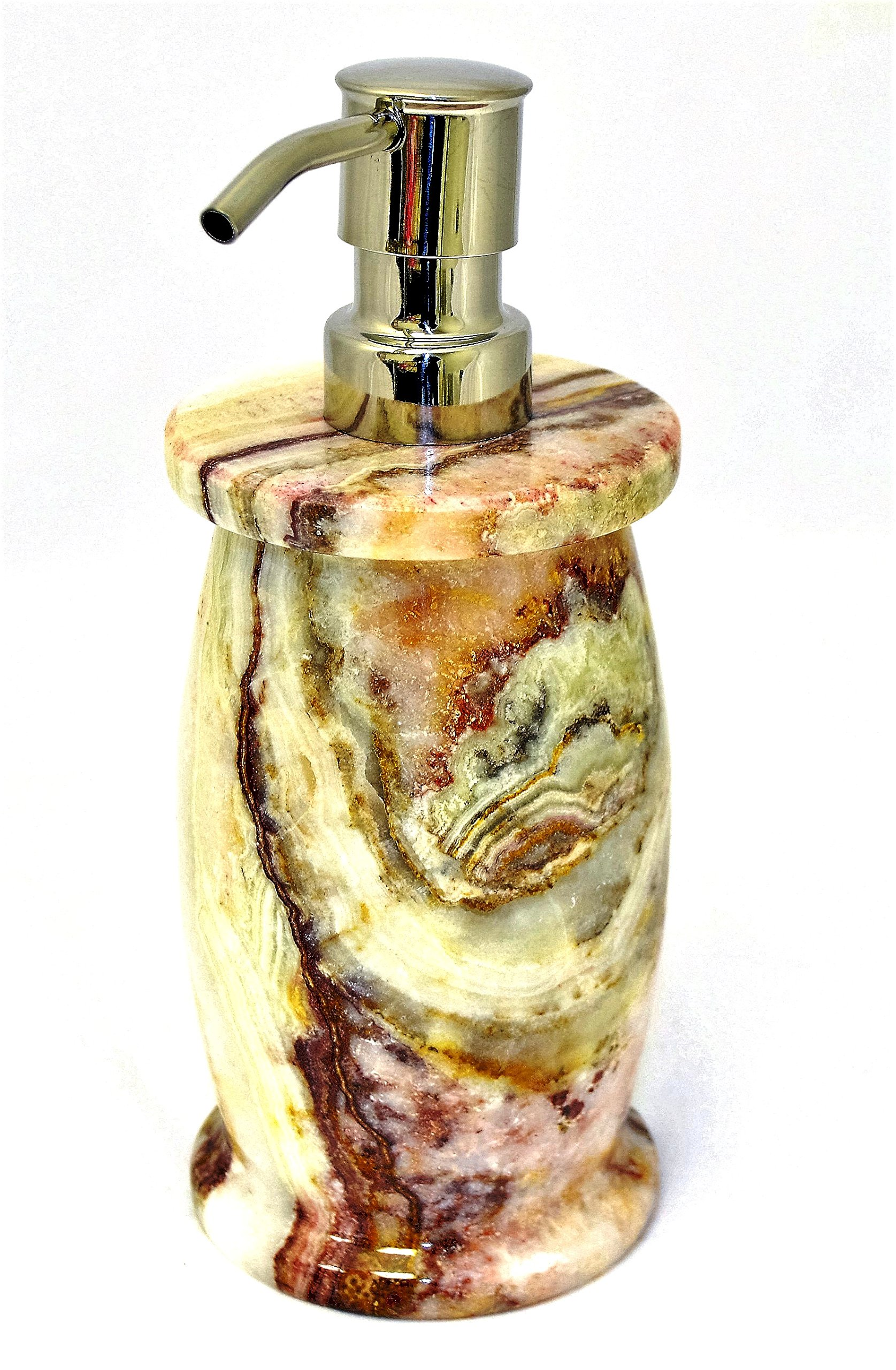 Nature Home Decor 704MG Multi Green Onyx Lotion Dispenser of Bathroom Accessories of Pacific Collection