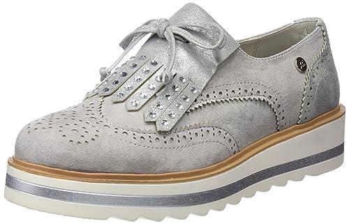 XTI 47734, Zapatillas Sin Cordones para Mujer, Blanco (Hielo), 38 EU