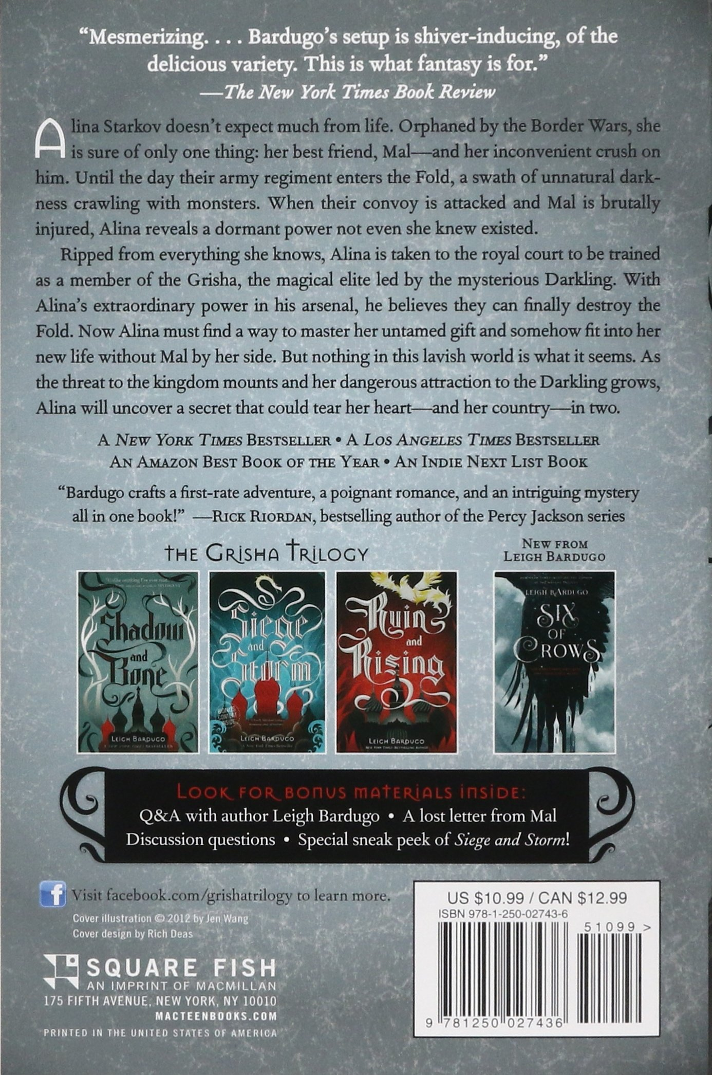 Amazon: Shadow And Bone (the Grisha Trilogy) (9781250027436): Leigh  Bardugo: Books