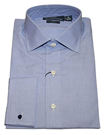 Polo Ralph Lauren Mens Regent French Cuff Dress Shirt Solid Blue 16/40-41