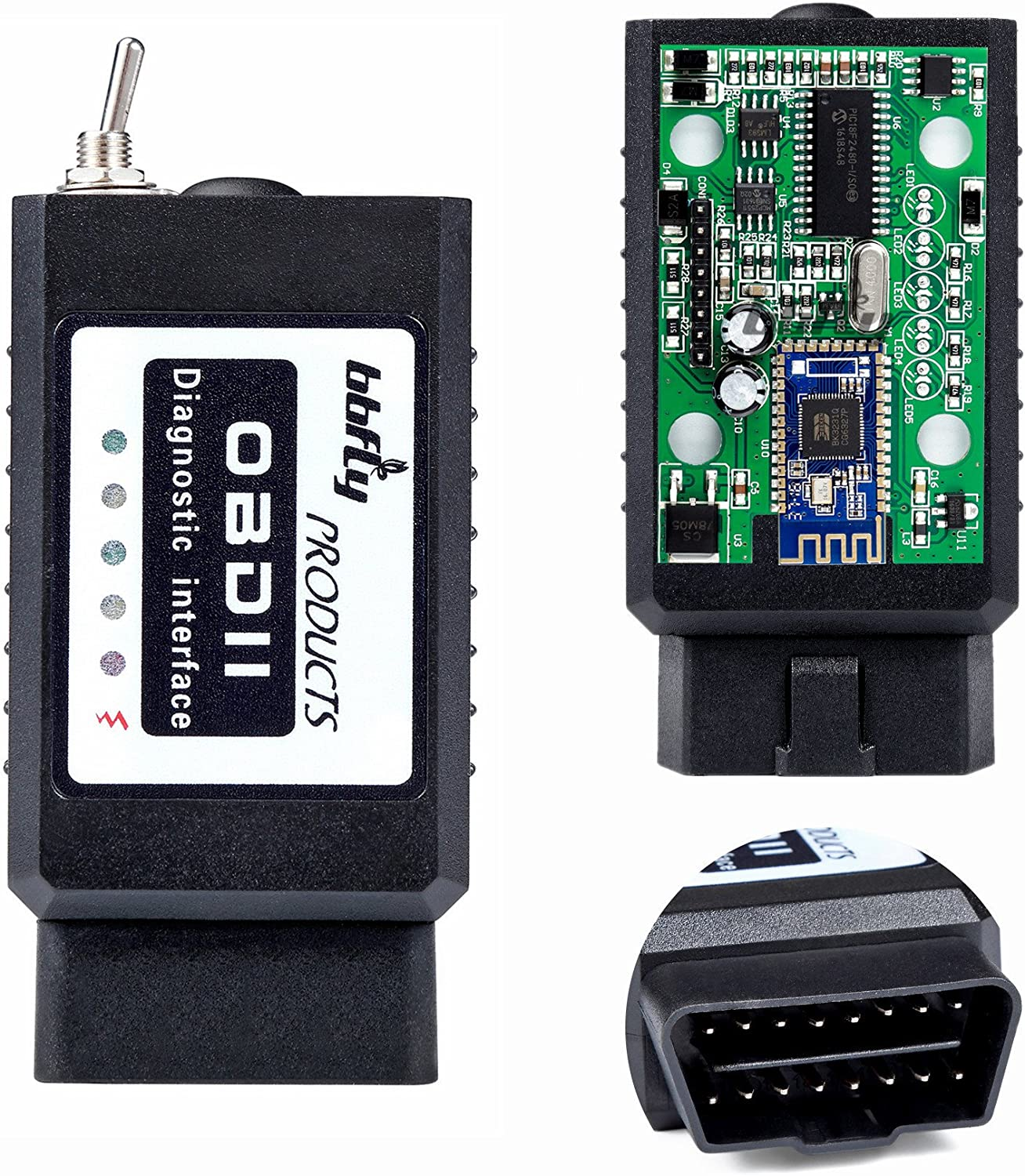 bbfly-BB77102 Bluetooth Modified Android OBD Scan Tool bbflyFORScan FOCCCUS OBD2 HS-CAN/MS-CAN