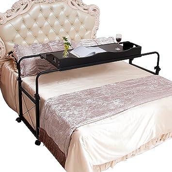 unicoo - Mesa de cama (altura y ancho regulable, carro para portátil, mesa de ordenador, de pie estación de trabajo 202: Amazon.es: Hogar