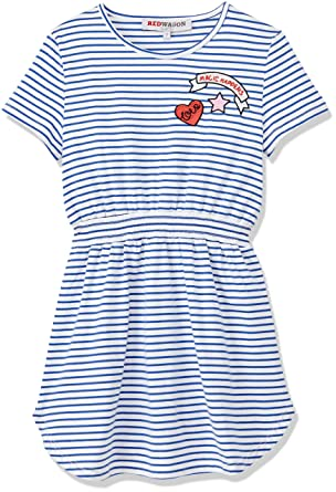 a208e1f5d9cc RED WAGON Girl s Striped Sporty Dress  Amazon.co.uk  Clothing