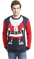 *daisysboutique* Men's Christmas Holiday Santa Sweater Cute Ugly Pullover
