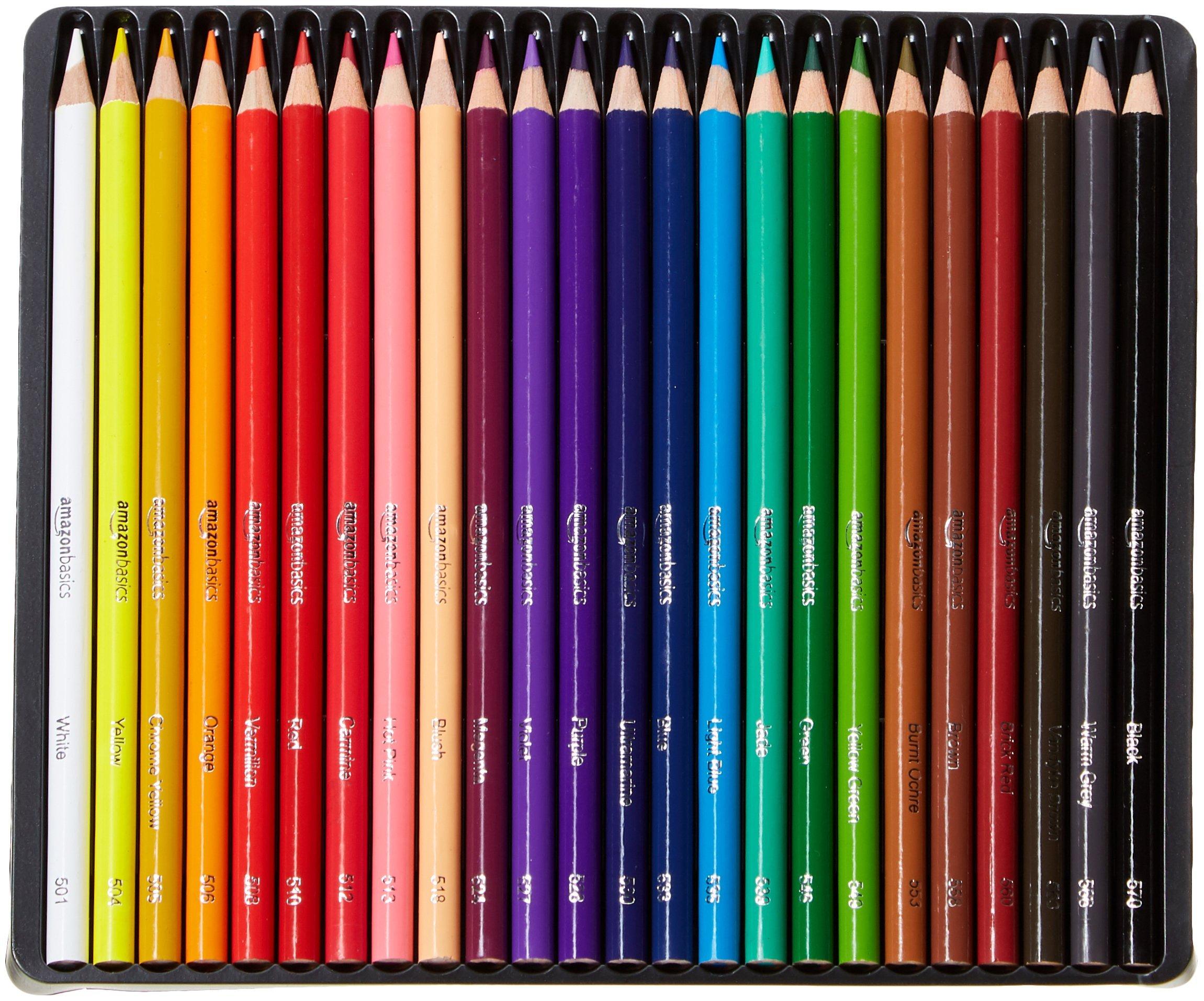 AmazonBasics Colored Pencils - 24-Count by AmazonBasics (Image #3)