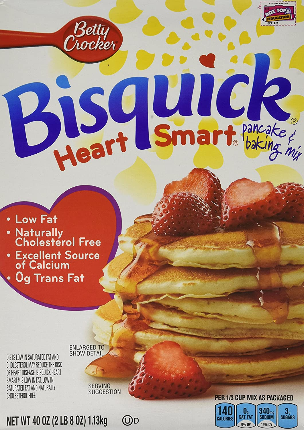 Amazon.com : Bisquick Heart Smart Pancake and Baking Mix Reduced ...