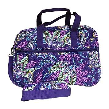 d2999b58c76 Amazon.com   Vera Bradley Medium Traveler Bag, Batik Leaves   Carry-Ons