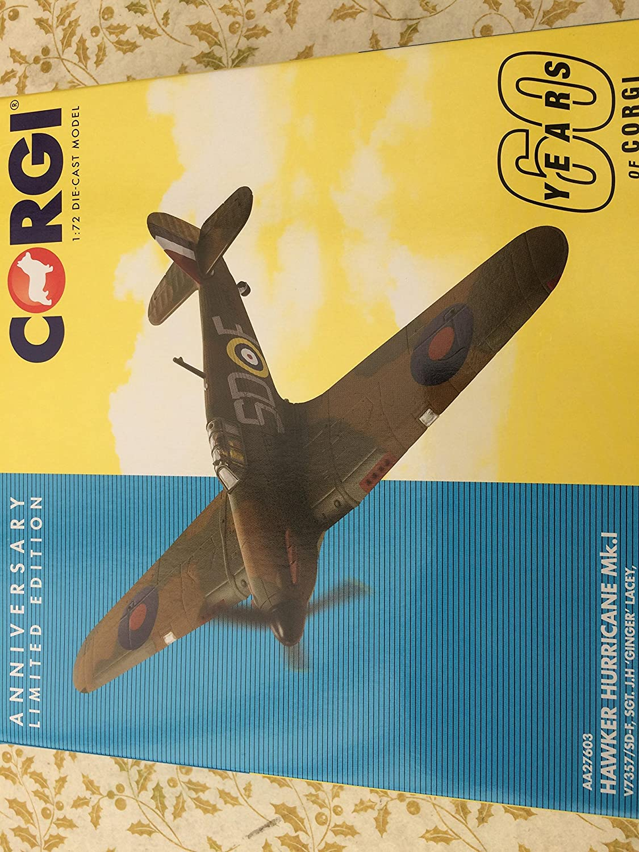 Daron Corgi Hawker Hurricane 1/72 JH Ginger Lacey No 501