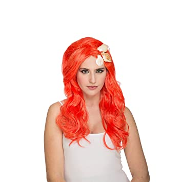 My Other Me Me-204630 Peluca de Sirenita, Color Naranja, Talla única (