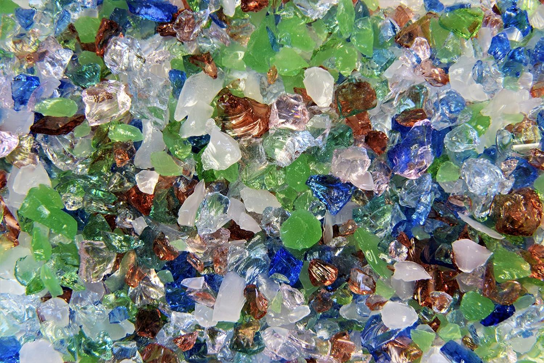 6 Devardi Glass COE 33 Boro Frit two ounce samples Size 1-2