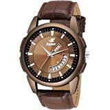 Espoir Analogue Brown Dial Day and Date Men's Boy's Watch - Smith0507