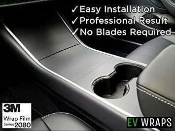 Tesla Model 3 Model Y Accessories Tesla Model 3 Model Y Center Console Wrap ABS Matte Black Console Cover Interior Decoration Wrap Kit