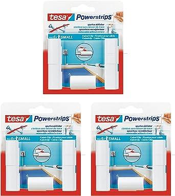 Sehr Gut tesa Powerstrips Kabel Clip, weiß, 15 Stück: Amazon.de: Gewerbe  PW95
