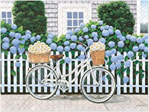 Americanflat 500 Piece Bicycle Puzzle, 18x24 Inches, Beach Days II Art by Wild Apple