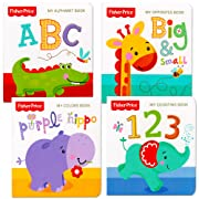 Fisher-Price  My First Books Set of 4 Baby Toddler Board Books (ABC Book, Colors Book, Numbers Book, Opposites Book)