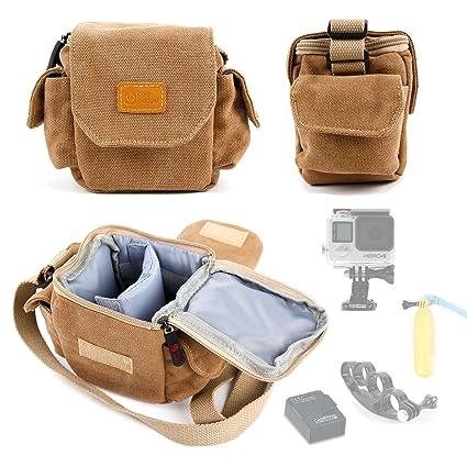 Amazon.com: DURAGADGET – Bolsa de lona, color café bolsas en ...
