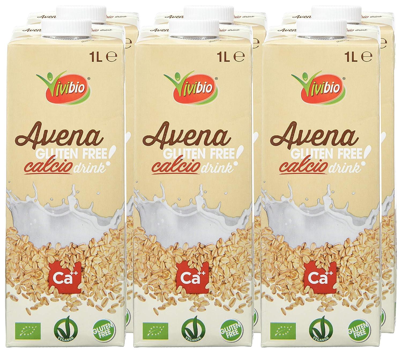 Vivibio, Leche (Avena) - 6 de 1000 ml. (Total 6000 ml.): Amazon.es: Alimentación y bebidas