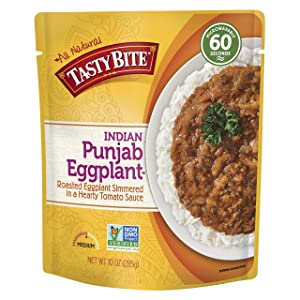 Tasty Bite Indian Entrée, Punjab Eggplant, 10 Ounce (Pack of 6)