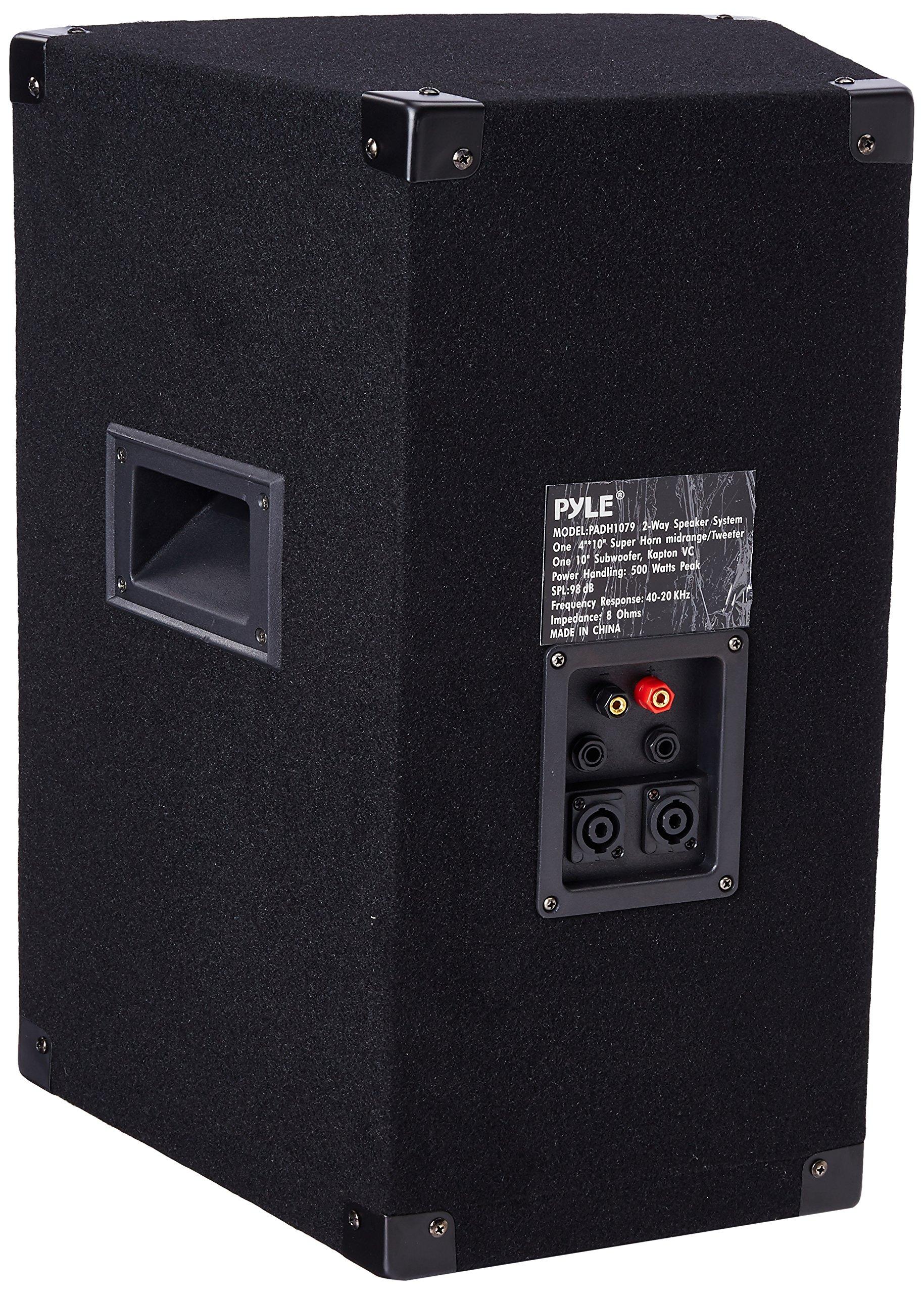 PYLE-PRO PADH1079 - 500 Watt 10'' Two-Way Speaker Cabinet