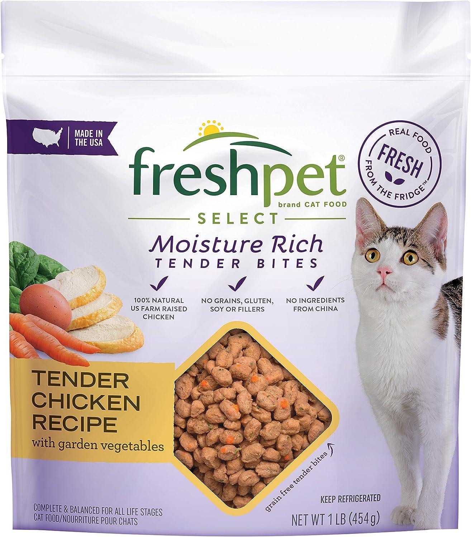 Freshpet Healthy & Natural Cat Food, Fresh Chicken Recipe, 1lb