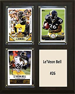 "product image for C&I Collectables NFL Pittsburgh Steelers Le'Veon Bell Two Card Plaque, 8"" x 10"", Brown"