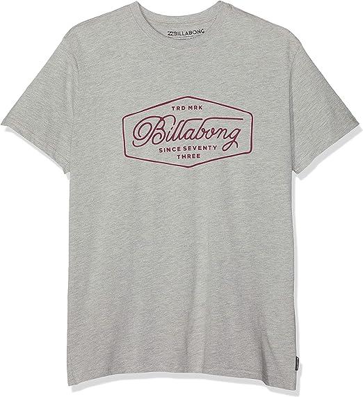 Grey Heather Billabong Trademark T-Shirt Mens T-Shirts