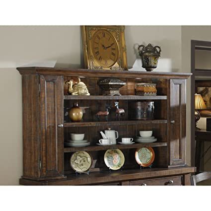 Cool Emerald Home Castlegate Pine Brown Hutch With Open Shelving And Touch Lighting Interior Design Ideas Skatsoteloinfo