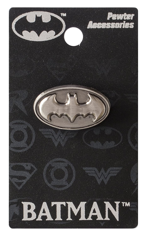 DC Batman Logo Pewter Lapel Pin Monogram International 45182